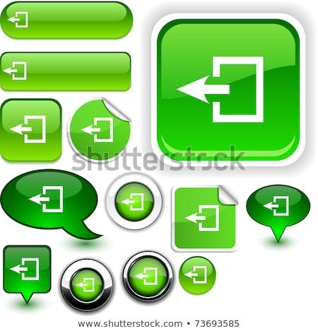Düğmeler çıkmak işaretleri örnek beyaz arka plan Stok fotoğraf © bluering