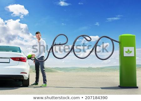 Eco station d'essence illustration nature énergie Ouvrir la Photo stock © adrenalina