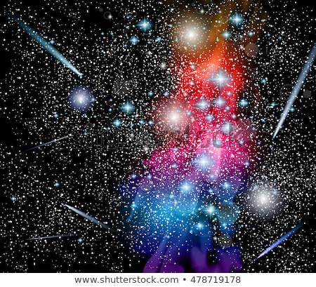 Vector Milky Way Galaxy Illustraton with rainbow colors Stock photo © DavidArts