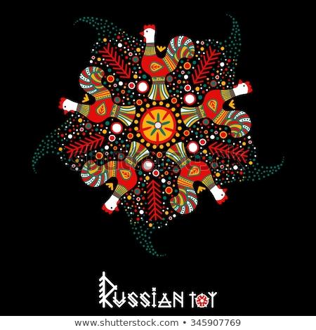 Prato russo galo ano símbolo arte Foto stock © sahua