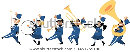Children in the band marching Stock photo © bluering