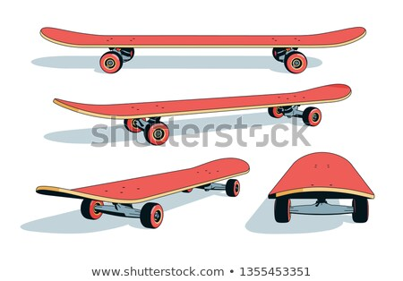 A skateboard in different angles Stock photo © bluering