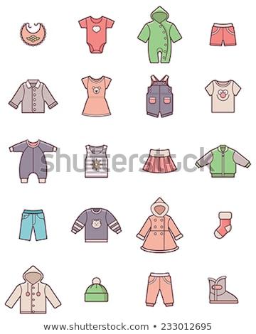 Baba póló rövidnadrág nadrágtartó rajz ikon Stock fotó © RAStudio
