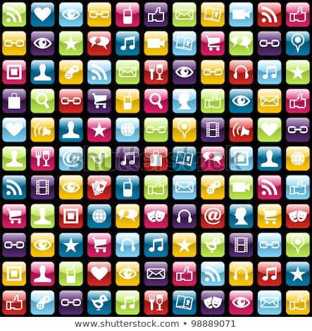 üzenetek · appok · interfész · vektor · ikonok · háló - stock fotó © cidepix