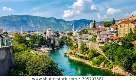 Mostar old bridge in Bosnia and Herzegovina Stock photo © zurijeta