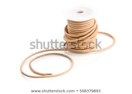 коричневый кожа шнура пластиковых катушка белый Сток-фото © ShawnHempel
