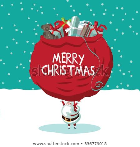 サンタクロース あごひげ eps 10 明けましておめでとうございます 装飾 ストックフォト © beholdereye
