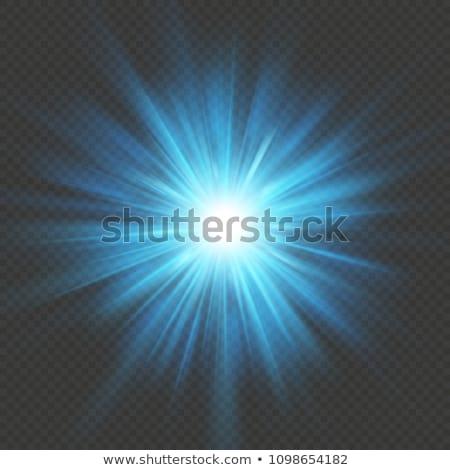 青 ライト効果 eps 10 文字 暗い ストックフォト © beholdereye