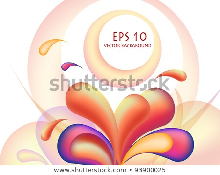 Heart from water drops on red background. EPS 10 Stock photo © beholdereye