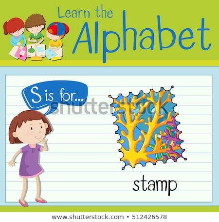 Flashcard letter S is  for stamp Stock photo © bluering