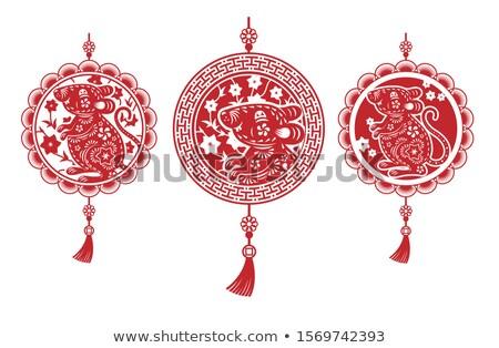 Çin dekore edilmiş örnek kültür dini dekoratif Stok fotoğraf © adrenalina