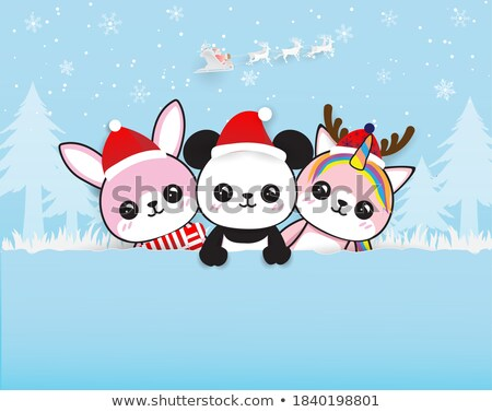 panda at Christmas Stock photo © adrenalina