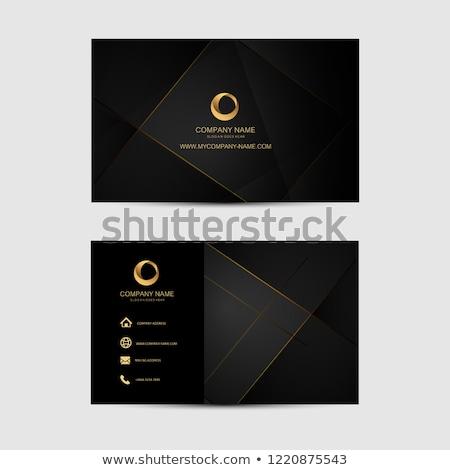 Modernes élégante carte de visite modèle design géométrique Photo stock © SArts
