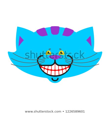Cheshire cat smile isolated. Fantastic pet alice in wonderland.  Stock photo © popaukropa