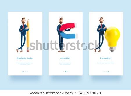 Clipboard estratégia de negócios ilustração 3d mesa de escritório 3D Foto stock © tashatuvango