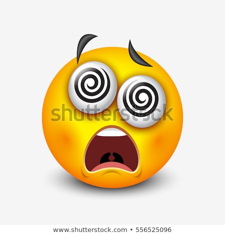 Stock photo: Emoji - crazy orange. Isolated vector.