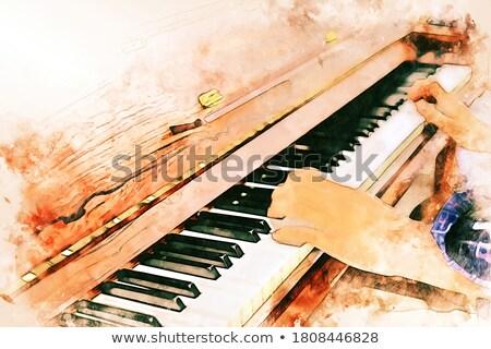 Young male musician playing piano at nightclub Stock photo © wavebreak_media