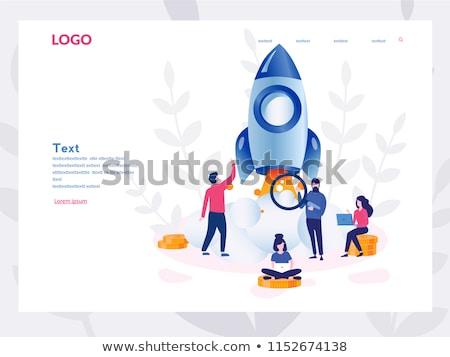 Kezdet felfelé üzlet projekt szalag design sablon Stock fotó © Genestro
