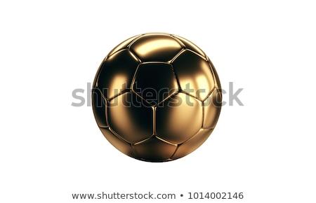 futebol · futebol · dourado · 3D - foto stock © wetzkaz