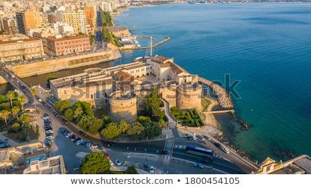 城 · 南 · イタリア · ビーチ · 水 · 建物 - ストックフォト © photooiasson