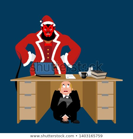 angst · horror · hel · cartoon · illustratie · monster - stockfoto © popaukropa