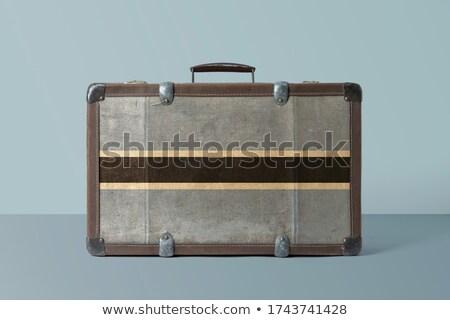 Csomagok zászló Botswana bőrönd izolált fehér Stock fotó © MikhailMishchenko