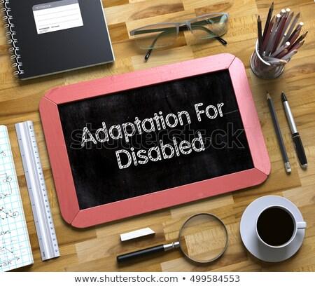 Handicapées faible tableau 3D haut vue Photo stock © tashatuvango