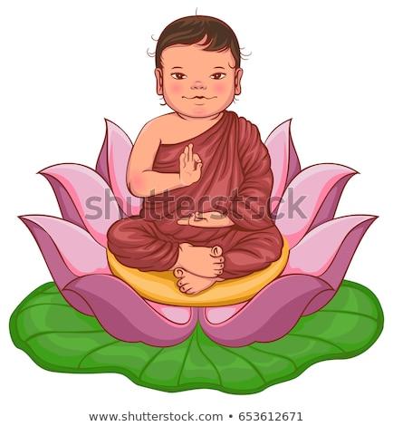 Pasgeboren buddha geïsoleerd witte vector Stockfoto © orensila
