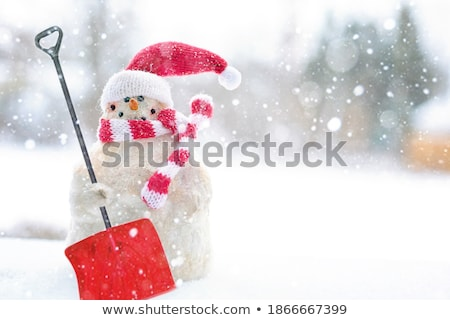 Shoveling Snow Portrait Stock photo © saje