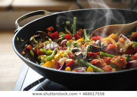 vegetable and cooking pan Stock photo © M-studio