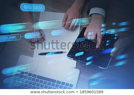 手 触れる 複雑な ソリューション ボタン 指 ストックフォト © tashatuvango