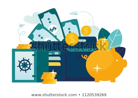 Pig piggy bank and bitcoin. Financial illustration. Accumulation Stock photo © popaukropa