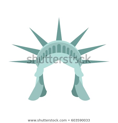 Statue of Liberty template face head. mock up hair and crown. Stock photo © popaukropa