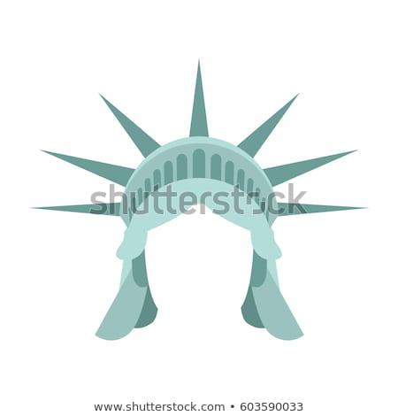 статуя свободы шаблон лице голову вверх Сток-фото © popaukropa