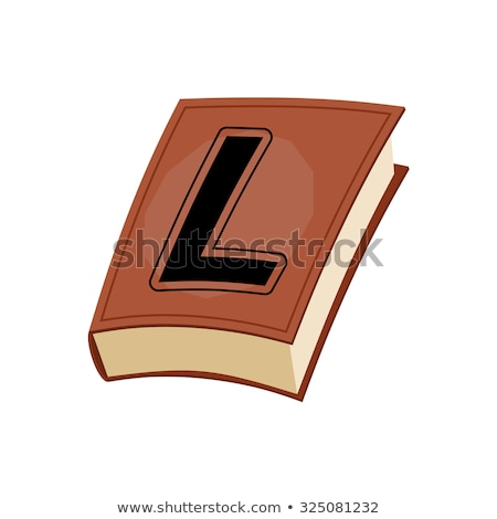 letter L at Vintage books in hardcover. Alphabetical stashes on Stock photo © popaukropa