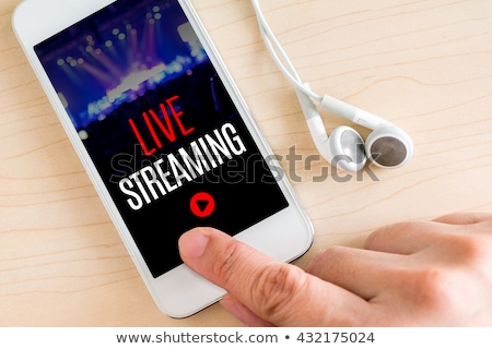 live streaming concept design for news channels stock photo © sarts