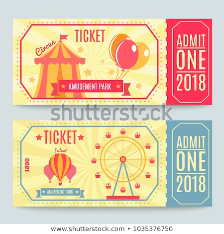 Amusement park business card template Stock photo © studioworkstock