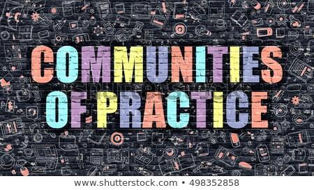 Społeczności praktyka edukacji biały murem Zdjęcia stock © tashatuvango