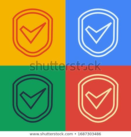 verificar · ícone · linha · estilo · assinar - foto stock © taufik_al_amin