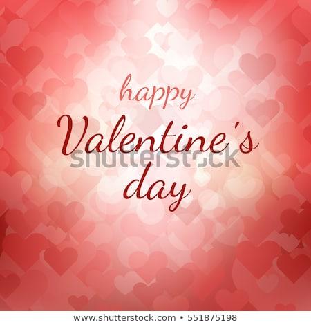 ストックフォト: 幸せ · バレンタインデー · デザイン · 赤 · バルーン · 中心