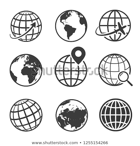 Stile terra mondo icona sferico mappa del mondo Foto d'archivio © ussr