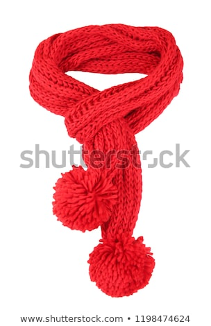 Red scarf on white background  Stock photo © sqback