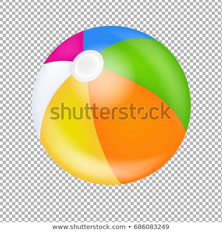 Beach Ball Transparent Background Stock photo © adamson