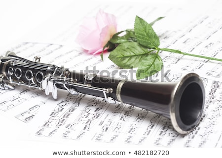 red rose clarinet stock photo © simply