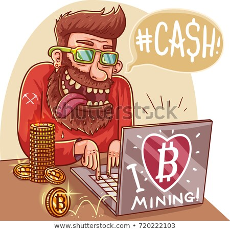 A Man Mining the Coin Stock photo © bluering