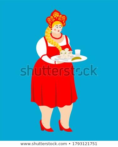 приветствую Россия русский девушки водка продовольствие Сток-фото © popaukropa