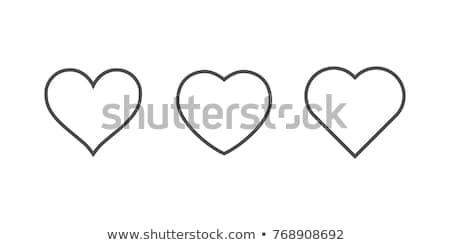 Establecer diferente corazones aislado blanco corazón Foto stock © DeCe