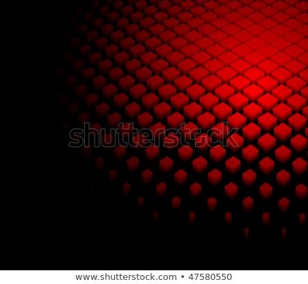 Fekete piros halftone gradiens minta absztrakt Stock fotó © SArts