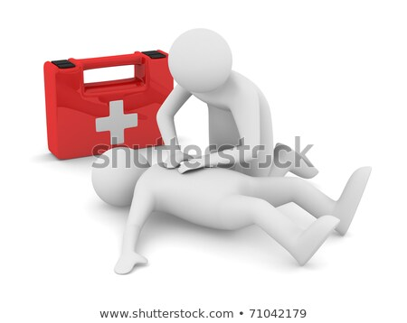 Man First Aid Kit Rescue Illustration Stock photo © lenm