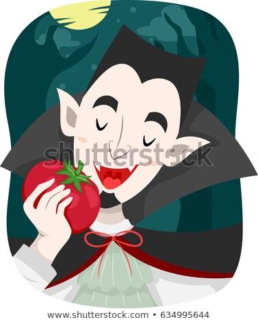 Homem tomates vampiro ilustração vegetariano alimentação Foto stock © lenm